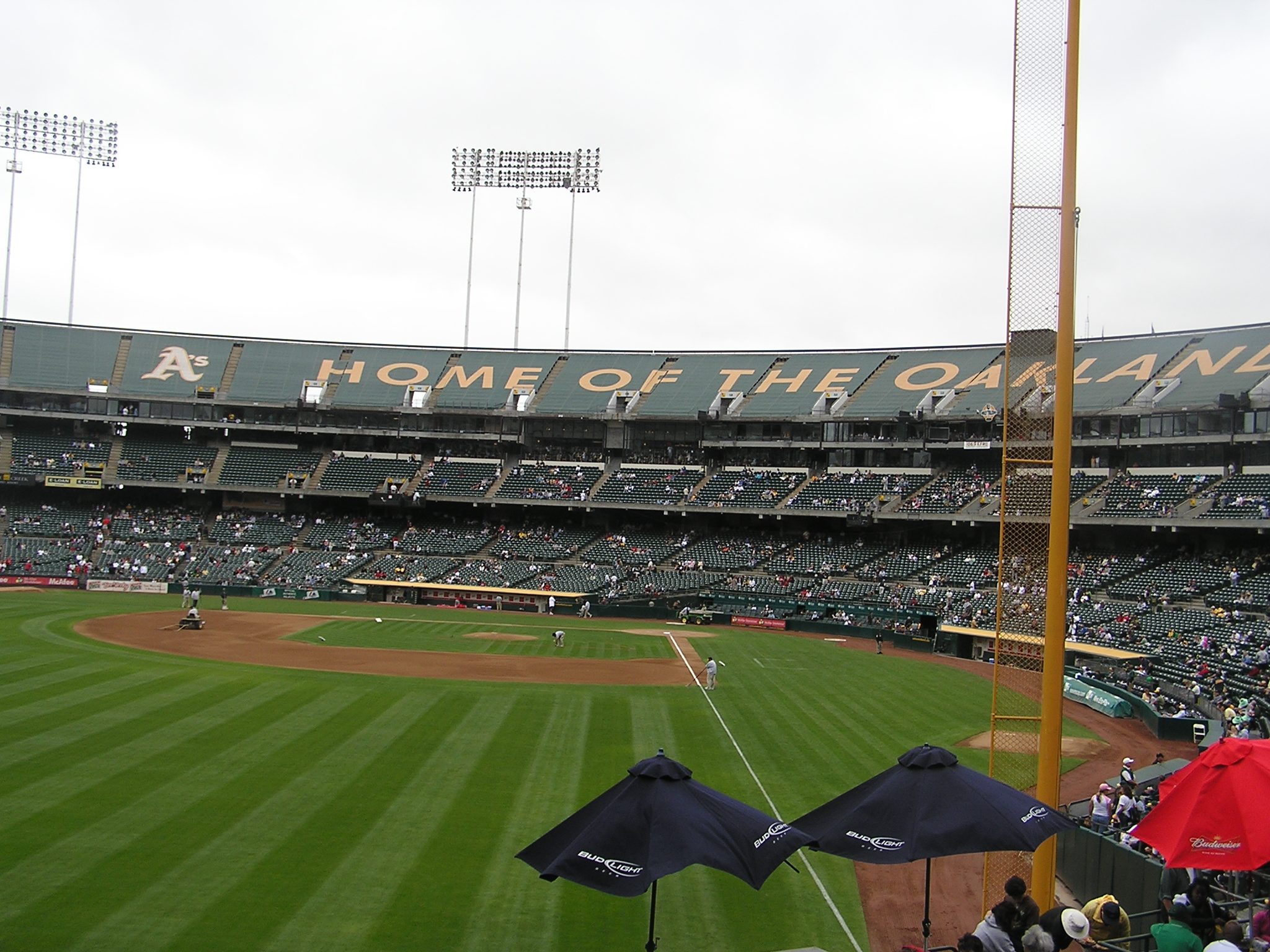 Right Field, McAfee Coliseum, Oakland