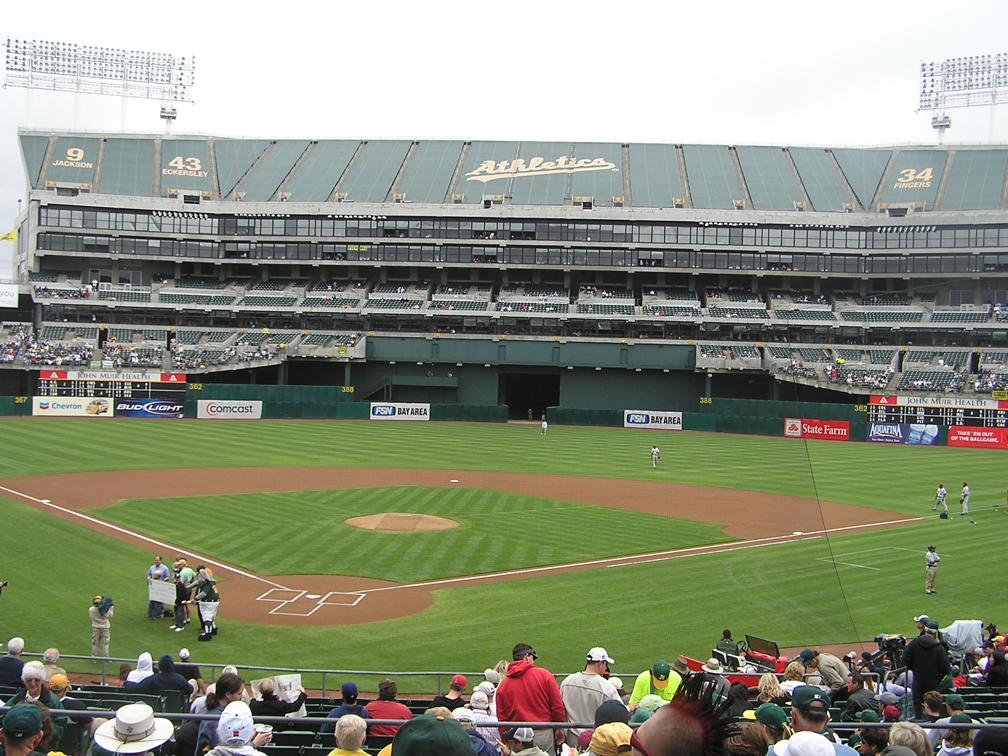 Right before the start - McAfee Coliseum, Oakland